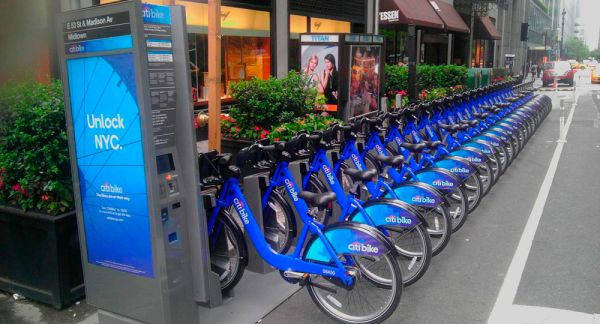Compartilhamentos de bicicletas em Nova York